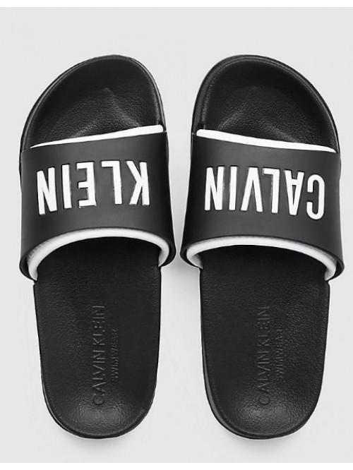 Női papucs Calvin Klein Slide fekete-fehér